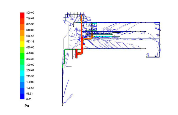 CFD Analysis of HVAC Ducting – 2 Units